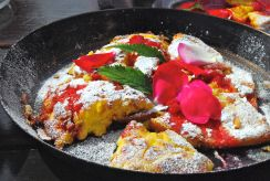 Raspberry-Rose Dessert Omelet, South Tyrol, Italy